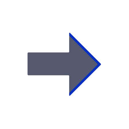 bicolor: right icon grey blue two colored Stock Photo