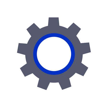 gearwheel: gearwheel icon grey blue two colored