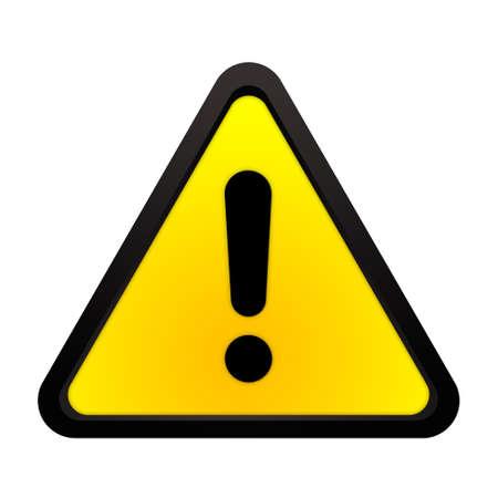 Sign Danger Caution - yellow black
