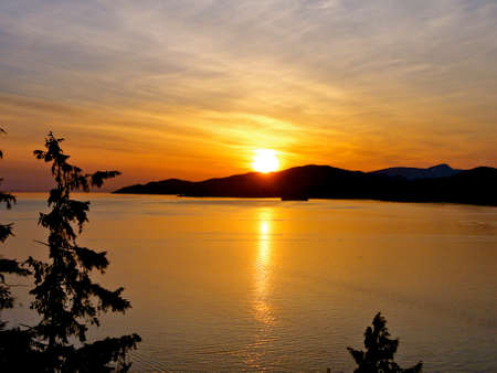 stanley: Sunset from Stanley Park