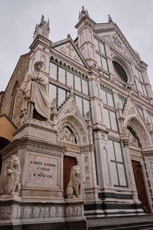 Florence, Italy - May 20, 2017: Basilica di Santa Croce (Basilica of the Holy Cross) Sajtókép