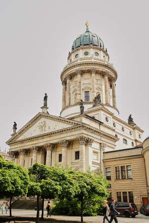 Berlin, Germany - April 2017: Gendarmenmarkt, French cathedral in Berlin Germany
