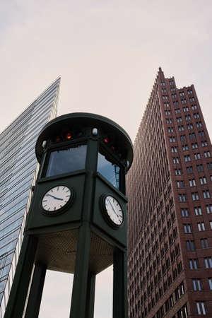Historic clock on Potsdamer Platz in Berlin Sajtókép