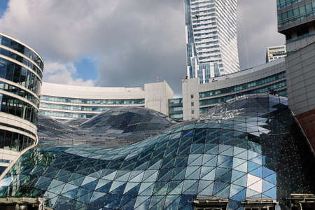 Warsaw, Poland - June 30, 2017: - Modern building in Warsaw Shopping Center