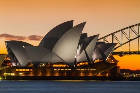 Sydney, Australia April 10, 2012 - Sunset Opera House