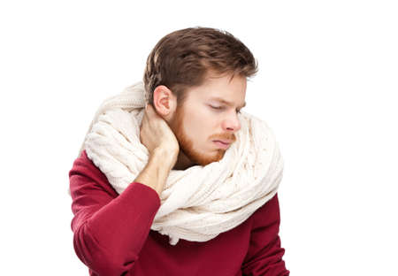 Sick young man, isolated Stock Photo - 14649707