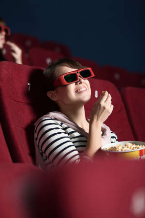 Young woman like a 3D movie Stock Photo - 14729965