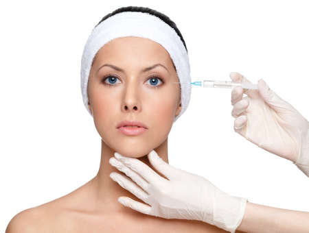 Botox eyes correction, isolated, white background Stock Photo - 14730250