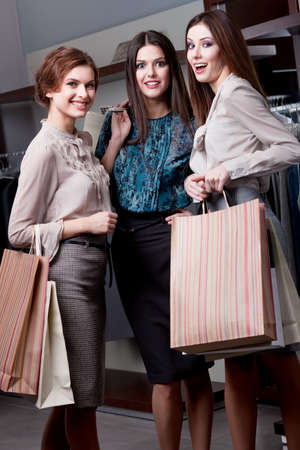 Delight after shopping, full length Stock Photo - 14847440
