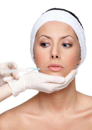 frontlet: Botox lips correction, isolated, white background