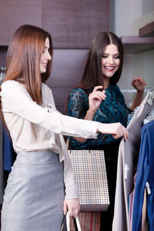 Two women do shopping at the store Stock Photo - 14865967