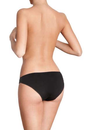 Slim body, isolated, white background photo