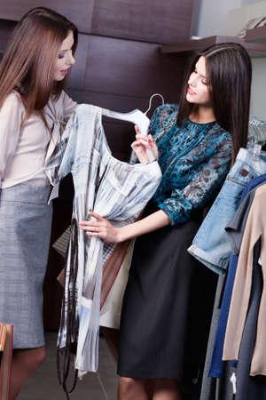 Friends do shopping photo