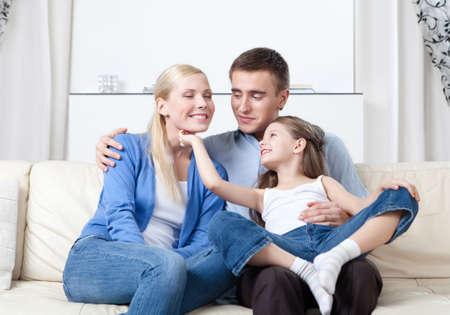 Happy family has a day off Banco de Imagens