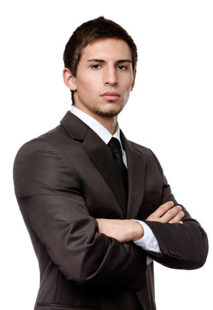 Young man in black suit, isolated on white background Stock Photo - 15044459