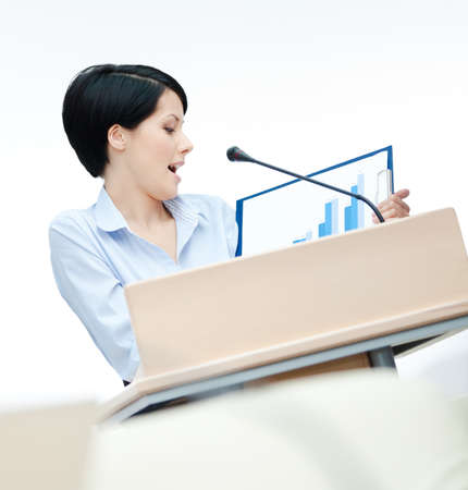 adult intercourse: Female speech maker at the podium handing diagram. Business conference