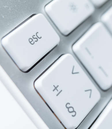 Close up of keys of white pc keyboard Stock Photo - 15873130