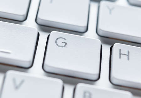 Close up of buttons of white computer keyboard Stock Photo - 16041297