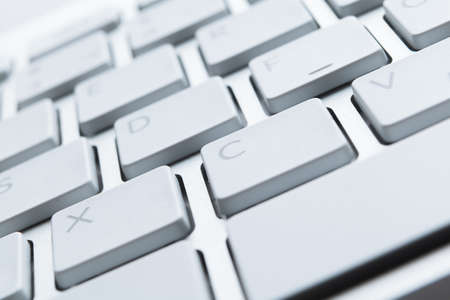Close up view of keys of white laptop keyboard Stock Photo - 16244277