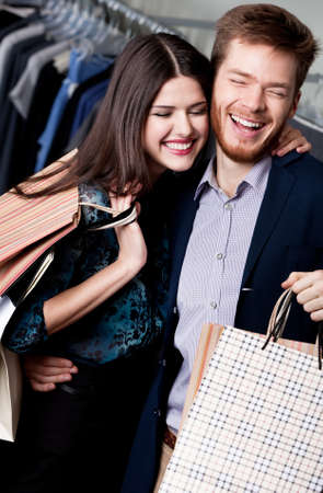 Lolling couple does shopping photo