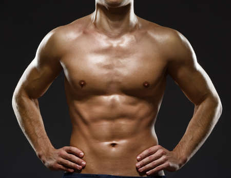 out of body: Close up of sexy male Stock Photo