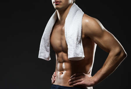 スポーツマンの胴、黒に分離 写真素材 - 22809169