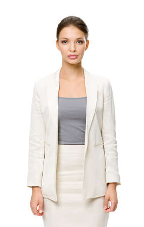 long shot: Half-length portrait of business woman, isolated. Concept of leadership and success Stock Photo