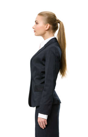 sideview: Profile of business woman, isolated. Concept of leadership and success