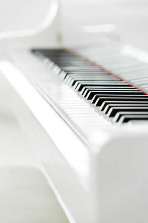 Close up of piano keyboard. Concept of music and arts photo