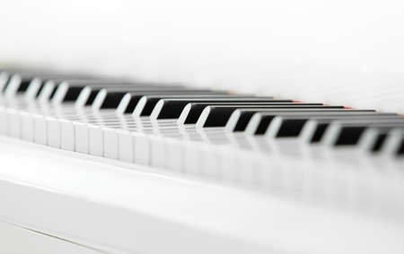 avocation: Close up of piano keyboard. Concept of music and creative hobby