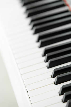 Close up of piano keyboard. Concept of music and art photo