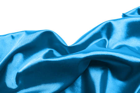blue silk: Abstract blue silk background Stock Photo