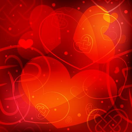 Valentine's day background with hearts Vektoros illusztráció
