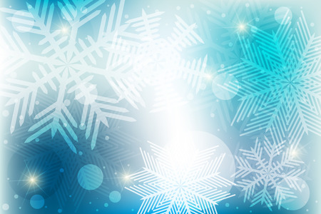 Winter background from snowflakes Illustration