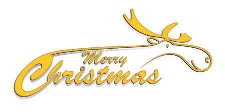 christmas greeting: Christmas greeting with reindeer