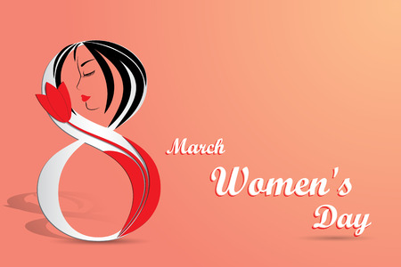 Elegant greeting card for International Womens Day