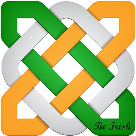 Abstract symbol for St. Patrick's Day Vektoros illusztráció