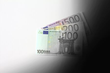 illicit: Euro banknotes disappearing into black secret money copyspace