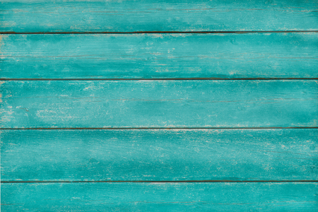 scraped: Vintage wood painted in turquoise green color, weathered and scraped, background, copy space