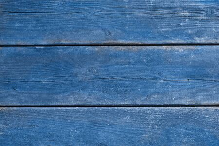 laths: Antique weathered wood with scraped blue paint, background, copy space