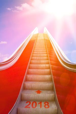 escalator bright sun light 2018 Banco de Imagens