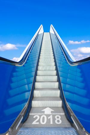 roltrap blauwe hemel jaar 2018