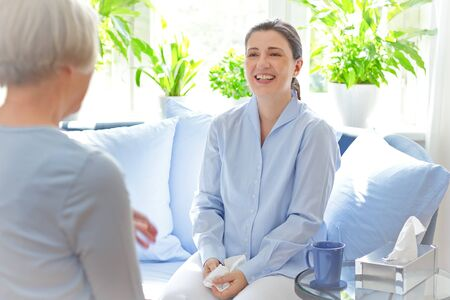 counseling therapy session happy patient