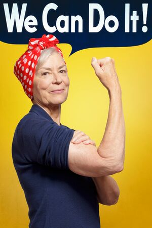 senior rosie riveter we can do it text
