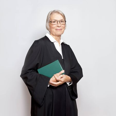 Woman judge lawyer advocate gown