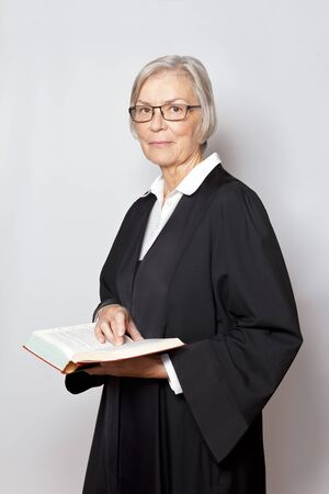 Female judge lawyer advocate gown