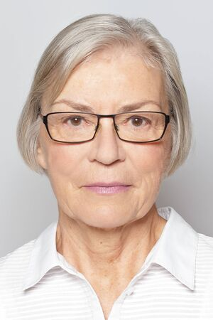biometric passport photo senior woman