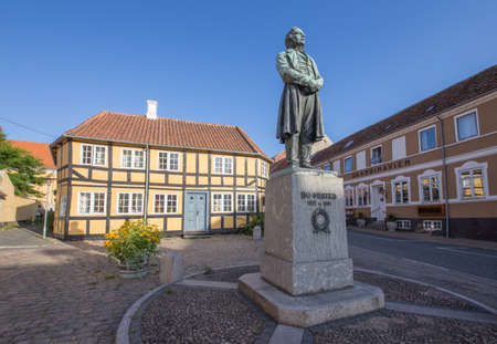 electromagnetism: ?rsted-monument in Rudk?bing, inventor of electromagnetism