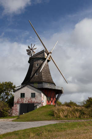 bad condition: Old windmill without wings in a bad condition