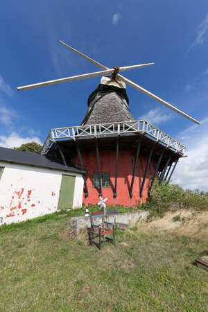 nonworking: Old non-working windmill in Lindelse, Langeland Stock Photo